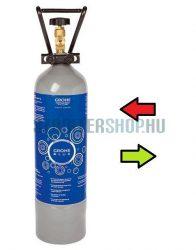 (40423cs) 2kg-os CO2 szénsav  palack töltés (töltöttre cserélés - palack csere) Grohe Blue-hoz